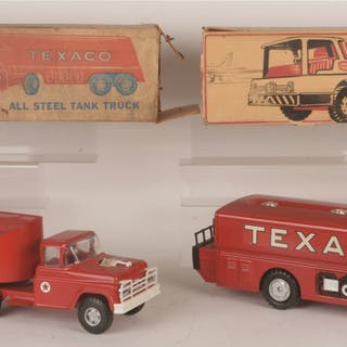 One is made by Buddy L and the second was made by Texaco by Brown & Bigelow