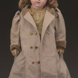 """Very pretty 17 - 1/2"""" bisque head doll with head incised in back """"BRU"""