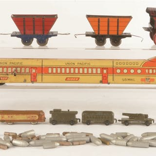 Lot consists of: one Marx wind-up core Train