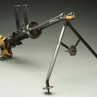 This extremely rare and unusual machine gun is actually...