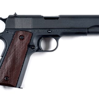 This early Ithaca has the Du-Lite finish only used on early pistols