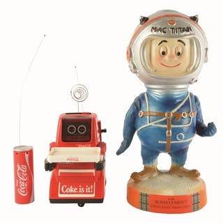 The Coca-Cola robot is a difficult promotional toy to find