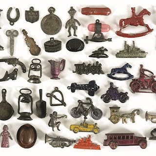 Various pieces including motorcycles