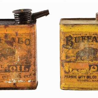 Lot Consists Of: Two Buffalo Brand Axle Oil Cans