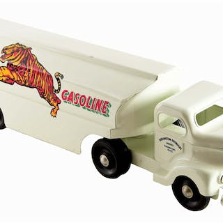 An excellent displaying Tin Toy Truck restored in Bengal Gasoline