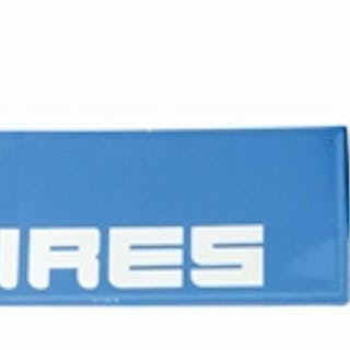 Lot Consists Of: Lee Tires Tin Sign with Embossed Outer Edge