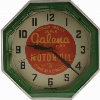 An excellent example of this Neon Clock from Neon...