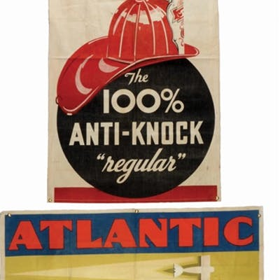 Lot Consists Of: Atlantic Aviation Tested Motor Oil Cloth...