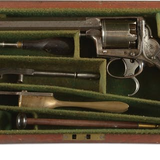 """The 7 - 1/8"""" octagonal barrel with border engraving..."""