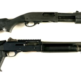 Lot consists of (A) Remington Model 870 Police Magnum...