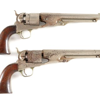 Offered is a pair of Colt 1860 .44 caliber Army revolvers...