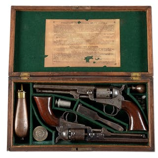 Consecutive serial numbered iron mounted Colt Model 1849...