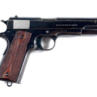 This is a fine example of scarce first year Navy shipped Colt Model 1911 pistol