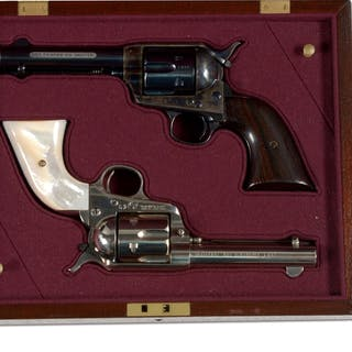 """Both of these guns features a 4 - 3/4"""" barrel and are in caliber .44-40"""
