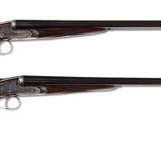 A very nice pair of 12 bore lightweight ejector game guns circa 1933