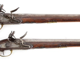 "The nearly 17"" long steel barrels with raised rib inlaid..."