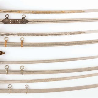 Lot consists of: four swords and scabbards