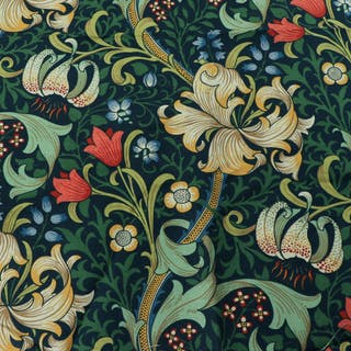WILLIAM MORRIS, textil, ca 120 x 140 c