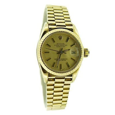 Ladies Rolex 18K Yellow Gold Datejust President Champagne 6917 (SKU 7231144MT)