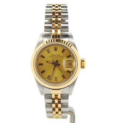 Ladies Rolex Two-Tone 18K/SS Date Champagne 69173 (SKU 8250015NMT)
