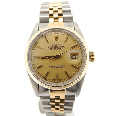 Mens Rolex Two-Tone 18K/SS Datejust Champagne 16013 (SKU 7113374NNMT)