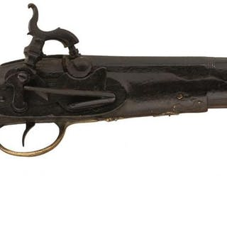 A .650 CALIBRE CARBINE BORE SPANISH PERCUSSION BELT PISTOL, 8.25inch