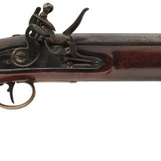 A .650 FLINTLOCK NEW LAND PATTERN SERVICE PISTOL, 9inch barrel, stepped