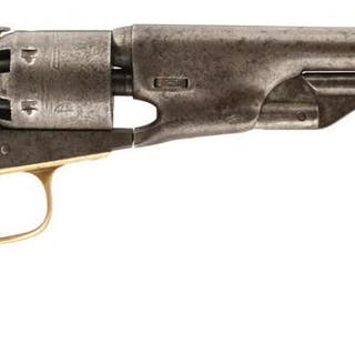 A PRESENTATION .36 CALIBRE SIX-SHOT PERCUSSION COLT 61 NAVY REVOLVER