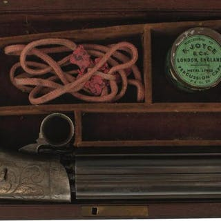 A SCARCE CASED 74-BORE LARGE SIZED AMERICAN PERCUSSION PEPPERBOX REVOLVER