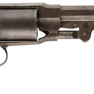 A .44 CALIBRE SIX-SHOT PERCUSSION PETTENGILL ARMY REVOLVER, 7.5inch