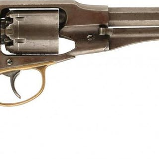 A .36 CALIBRE SIX-SHOT PERCUSSION REMINGTON-RIDER NEW MODEL BELT REVOLVER