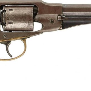 A SCARCE .38 CALIBRE RIMFIRE FACTORY CONVERSION SIX-SHOT REMINGTON-RIDER