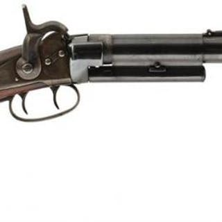 A PERCUSSION GREENE'S PATENT CARBINE, 18inch sighted barrel, the tang