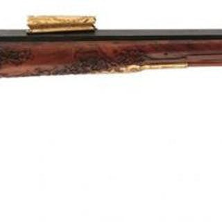 A FINE 22-BORE PERCUSSION GERMAN HUNTING RIFLE, 32inch sighted blued