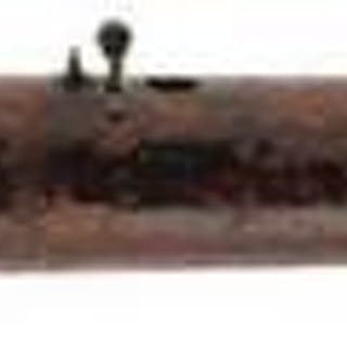 A 19TH CENTURY AIRCANE OR RIFLE, 18.5inch brown lacquered barrel with