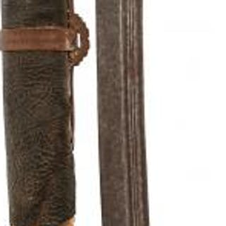A 19TH CENTURY CHINESE DAO OR CURVED SWORD, 73cm fullered blad, characteristic