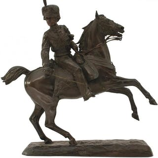 COMTE STANISLAO GRIMALDI DEL POGGETTO (1825-1903), A Hussar wielding