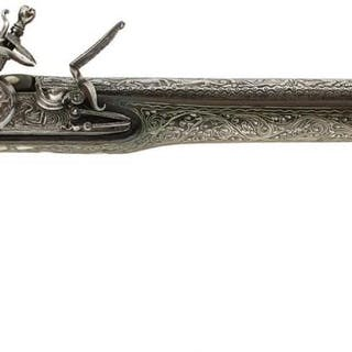 A 20-BORE BALKAN FLINTLOCK HOLSTER PISTOL, 11.75inch barrel chiselled