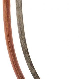 A 19TH CENTURY OTTOMAN SHAMSHIR, 70.5cm sharply curved damascus blade