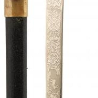 AN IMPERIAL GERMAN HUNTING OR FORESTRY DIRK, 33cm clean blade decorated
