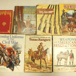 A SMALL COLLECTION OF ARMS AND ARMOUR BOOKS, principally relating