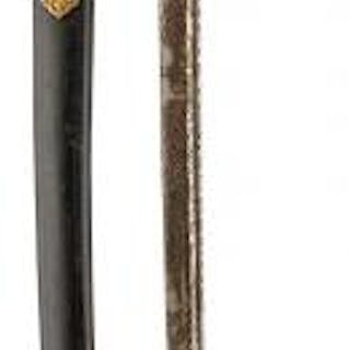 A FINE QUALITY ARGENTINIAN ADMIRAL'S SWORD, 71cm pipe backed blade