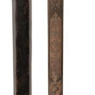 A GVR MIDSHIPMAN'S BLUED AND GILT DIRK, 43.5cm blade by BOYTON & SON