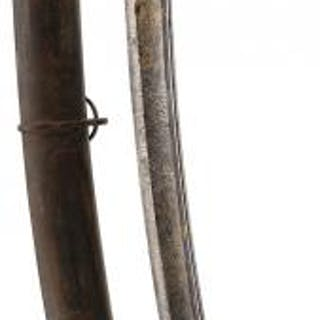 A 1796 PATTERN LIGHT CAVALRY OFFICER'S SWORD, 85.5cm curved, pipe