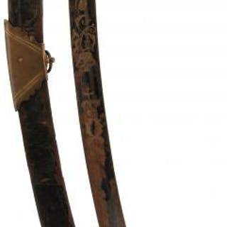 AN 1803 PATTERN INFANTRY OFFICER'S SWORD, 73cm curved blade decorated