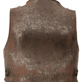 AN ENGLISH CIVIL WAR PERIOD BACKPLATE, of characteristic construction