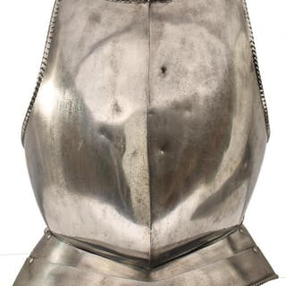 A BREASTPLATE AND GORGET IN 17TH CENTURY NORTH EUROPEAN STYLE, the