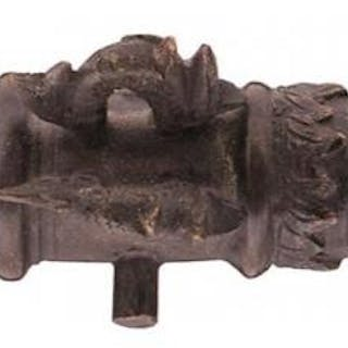 A BRONZE MODEL CANNON IN THE 17TH CENTURY MANNER, 23cm five-stage