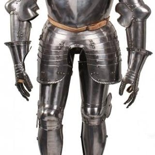 A GERMAN CAP-A-PIE FIELD ARMOUR IN THE 16TH CENTURY STYLE, the two-piece