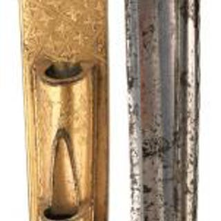 A SCARCE SCOTTISH GEORGIAN OFFICER'S DIRK, 33.5cm fullered blade with